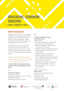 Support Brisbane Common Ground