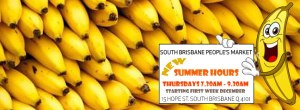New Summer Times at South Brisbane People's Market